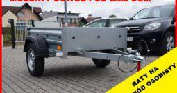 Przyczepa TEMA 150x106x32 , Możliwy dowóz pod sam dom, Raty, DMC : 750 kg, NOWA