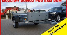 Przyczepka Tema 200x106x32, lekka, DMC 750 KG, tylna burta otwierana, NOWA , Raty !