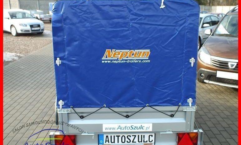 Przyczepa Neptun 202x114x30+ Stelaż i Plandeka 80 cm, Nowa full