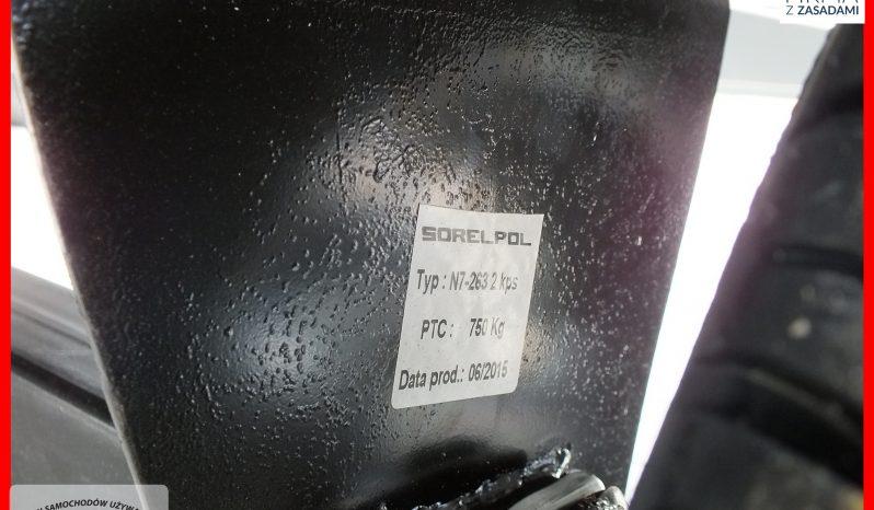 PRZYCZEPKA NEPTUN PLATFORMA, 263x145x40 + STELAŻ I PLANDEKA 80cm , PLATFORMA full