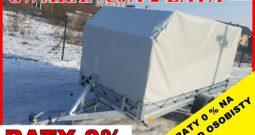 Przyczepka Neptun 345x150x30 + PLANDEKA 120H ,Długa , Platforma, Wywrotka, Resor