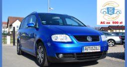 VW Touran 2.0 TDI, 7-Osobowy, Zadbany, Zarejestrowany, Gwarancja, I-Właściciel
