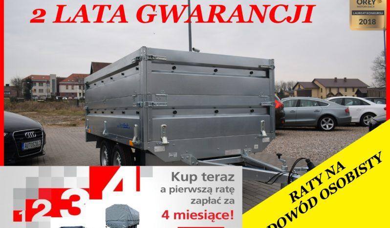 Przyczep Neptun 263x145x40 + Drugie Burty, Dwuosiowa Platforma, Kat.B, DMC 750kg, Raty