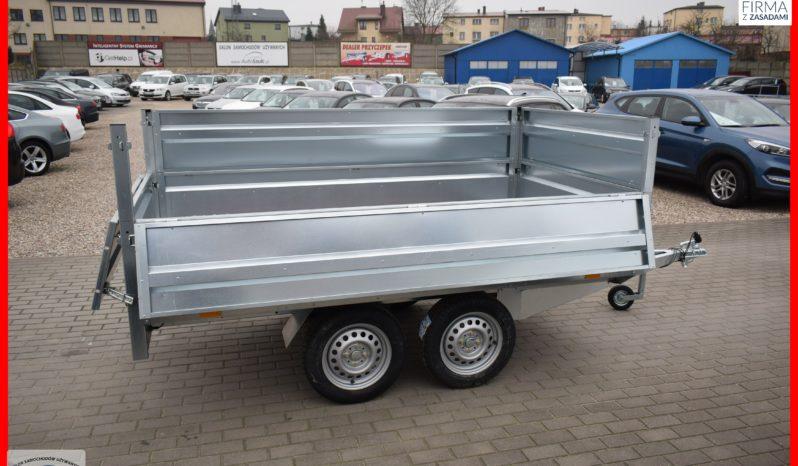Przyczep Neptun 263x145x40 + Drugie Burty, Dwuosiowa Platforma, Kat.B, DMC 750kg full