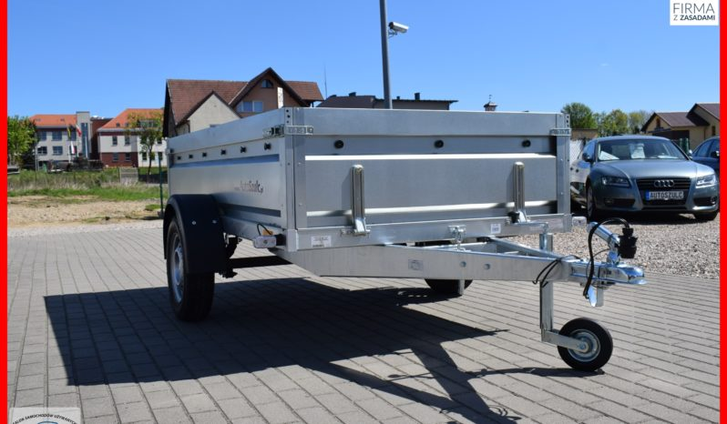 Przyczepa Neptun RESOR + AMORTYZATOR 236x129x45 , rozbieralna, DMC 750 kg, Nowa, Solidna full