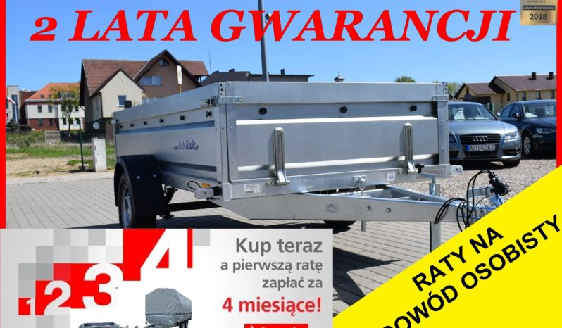 Przyczepa Neptun RESOR + AMORTYZATOR 263x129x45 , rozbieralna, DMC 750 kg, Nowa, Solidna