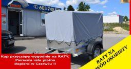 Przyczepa TEMA 150x106x32 + plandeka i stelaż 80 cm, Możliwy dowóz pod sam dom, Raty, DMC : 750 kg, NOWA