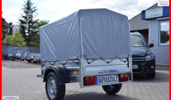 Przyczepa TEMA 150x106x32 + plandeka i stelaż 80 cm, Możliwy dowóz pod sam dom, Raty, DMC : 750 kg, NOWA full