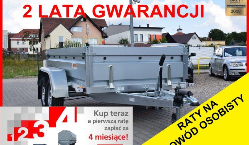 Przyczepa Neptun 263/129/40 + hamulec, DMC 1300 KG , 2-osiówka, Nowa, 2 lata gwarancji