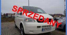 VW Transporter T5 1.9 TDI, Brygadówka ( 6-osobowy ) , Zarejestrowany, Opłacony, Hak, Gwarancja