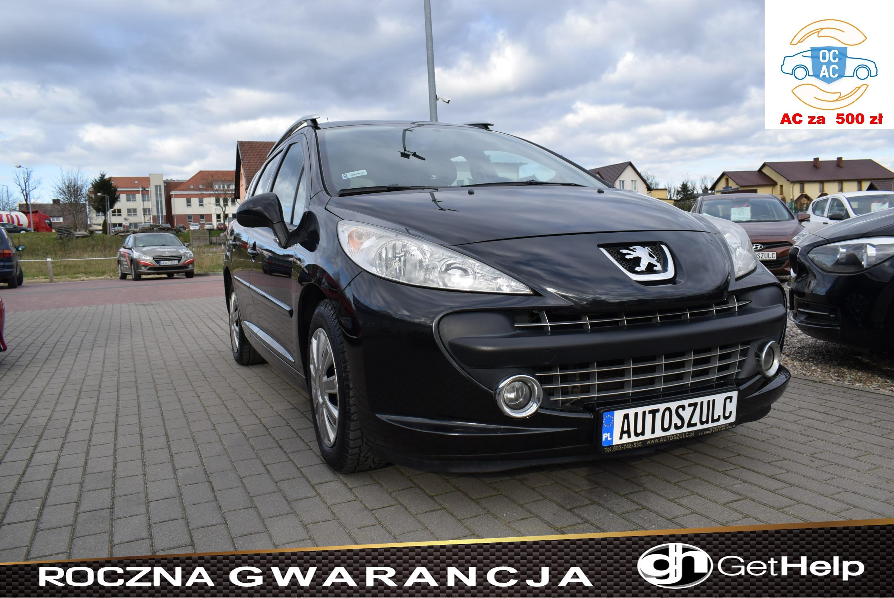 Peugeot 207 SW 1.6 HDI, Zarejestrowany, Panorama, I-Właściciel, Dbany na bieżąco, Rok Gwarancji
