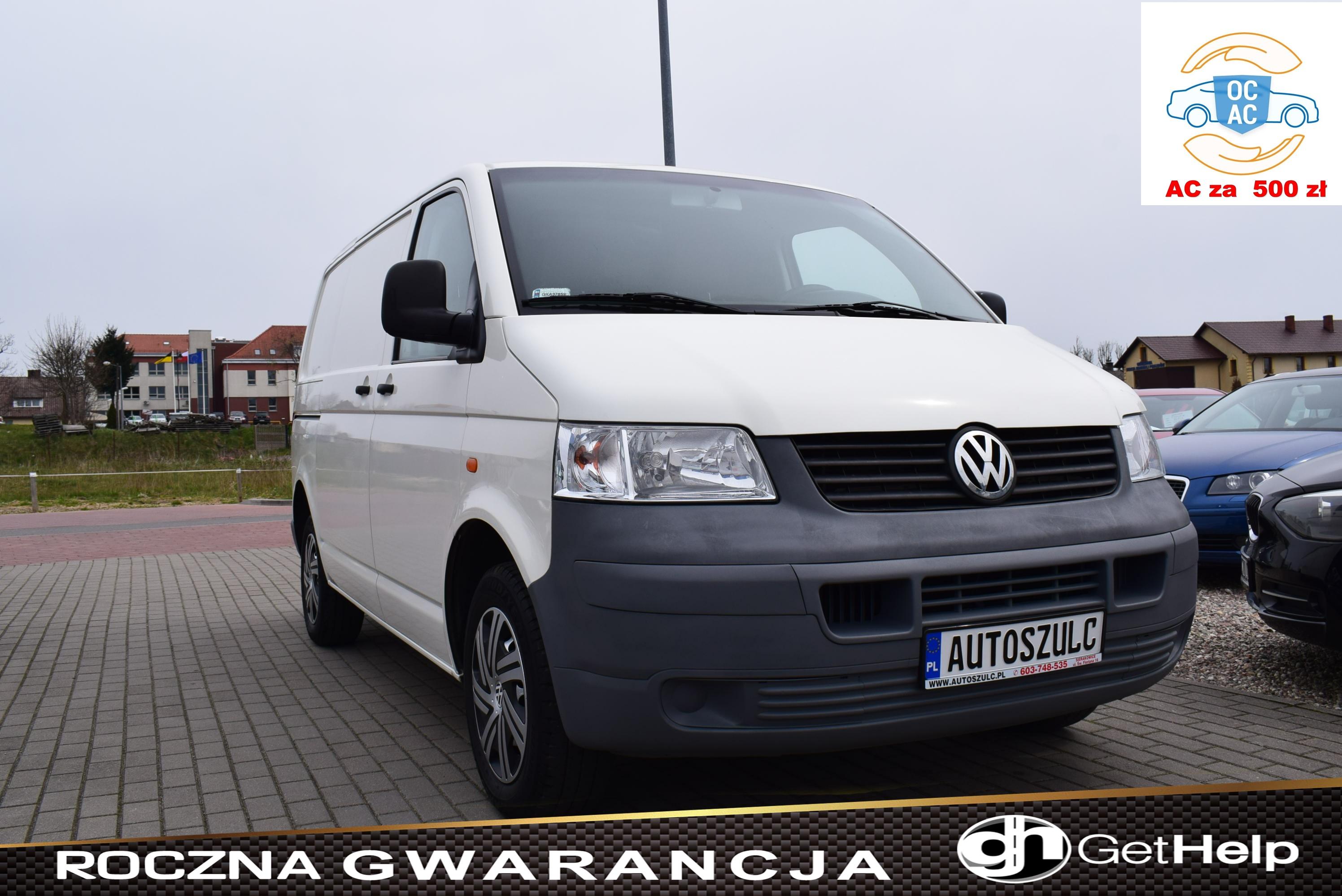 VW Transporter T5 1.9 TDI, Ciężarowy, 3-osobowy, Spełnia warunki Vat-1, Zarejestrowany, I-Właściciel, Model : 2006, Rok Gwarancji