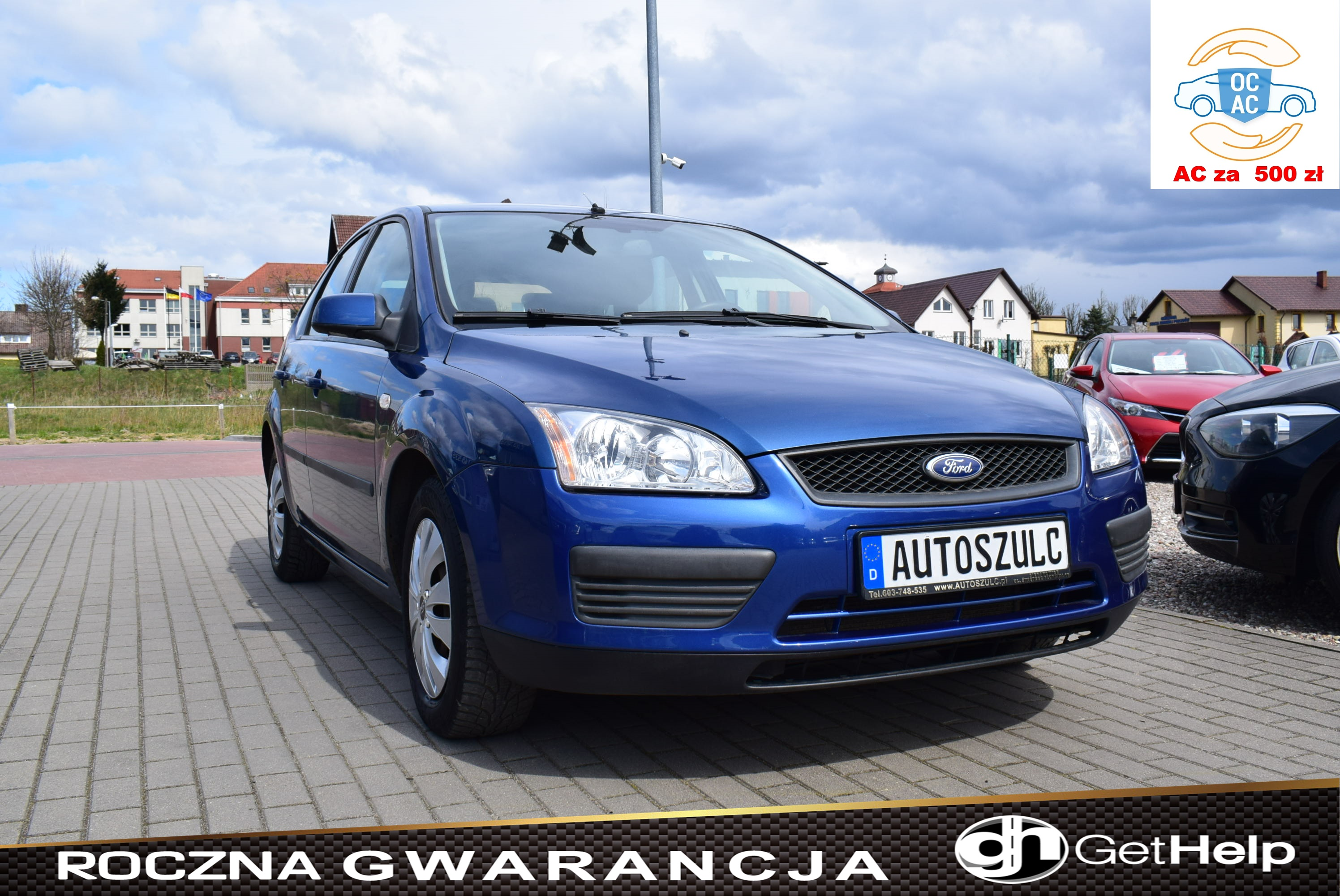 Ford Focus 1.8 Benzyna, 5-drzwi, Nawigacja, Klima, Serwisowany, Rok Gwarancji