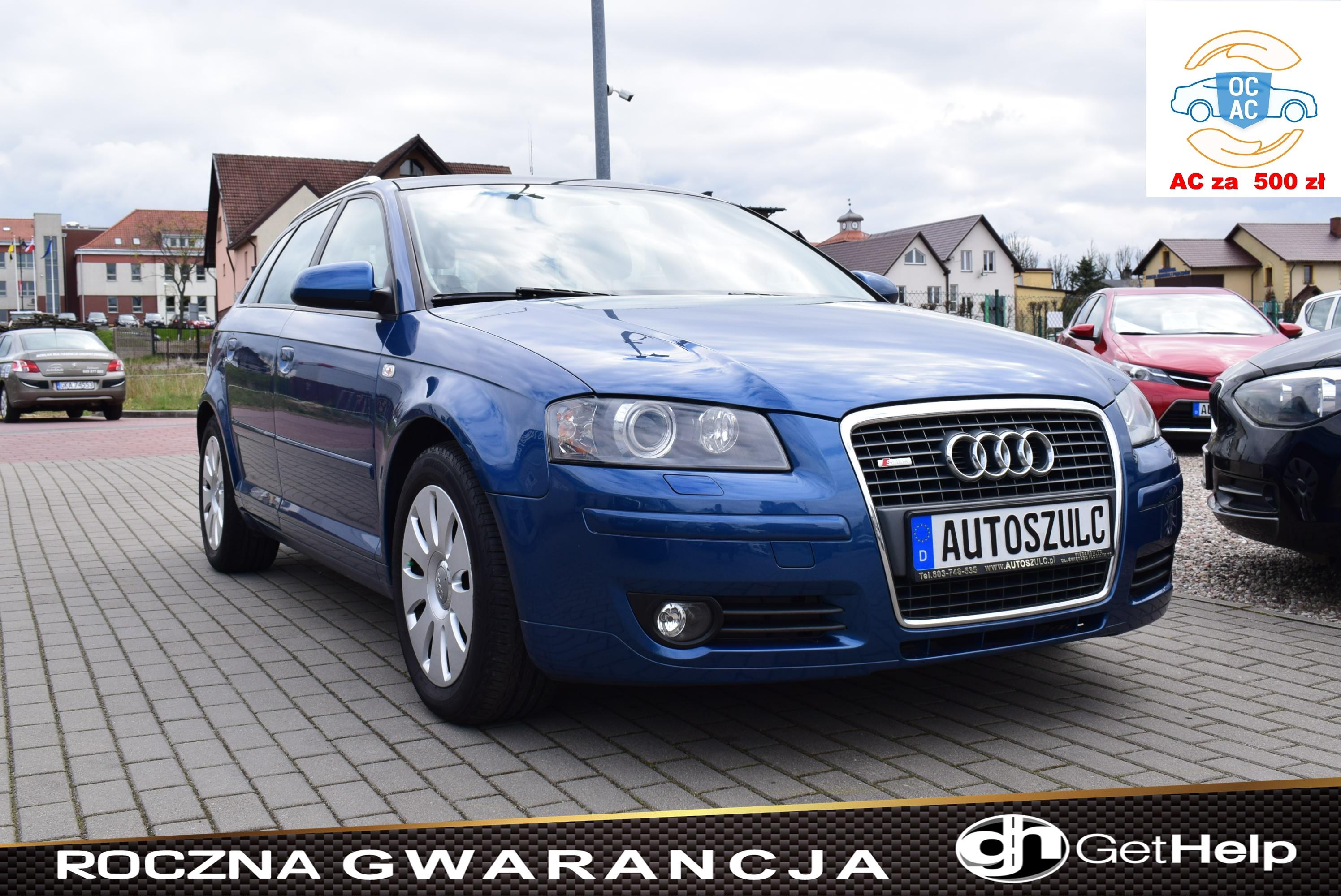 Audi A3 1.6 Benzyna, Sportback, Import z Niemiec, 5-drzwi, Podwójny Szyberdach, 6-biegów, Skóra, Rok Gwarancji