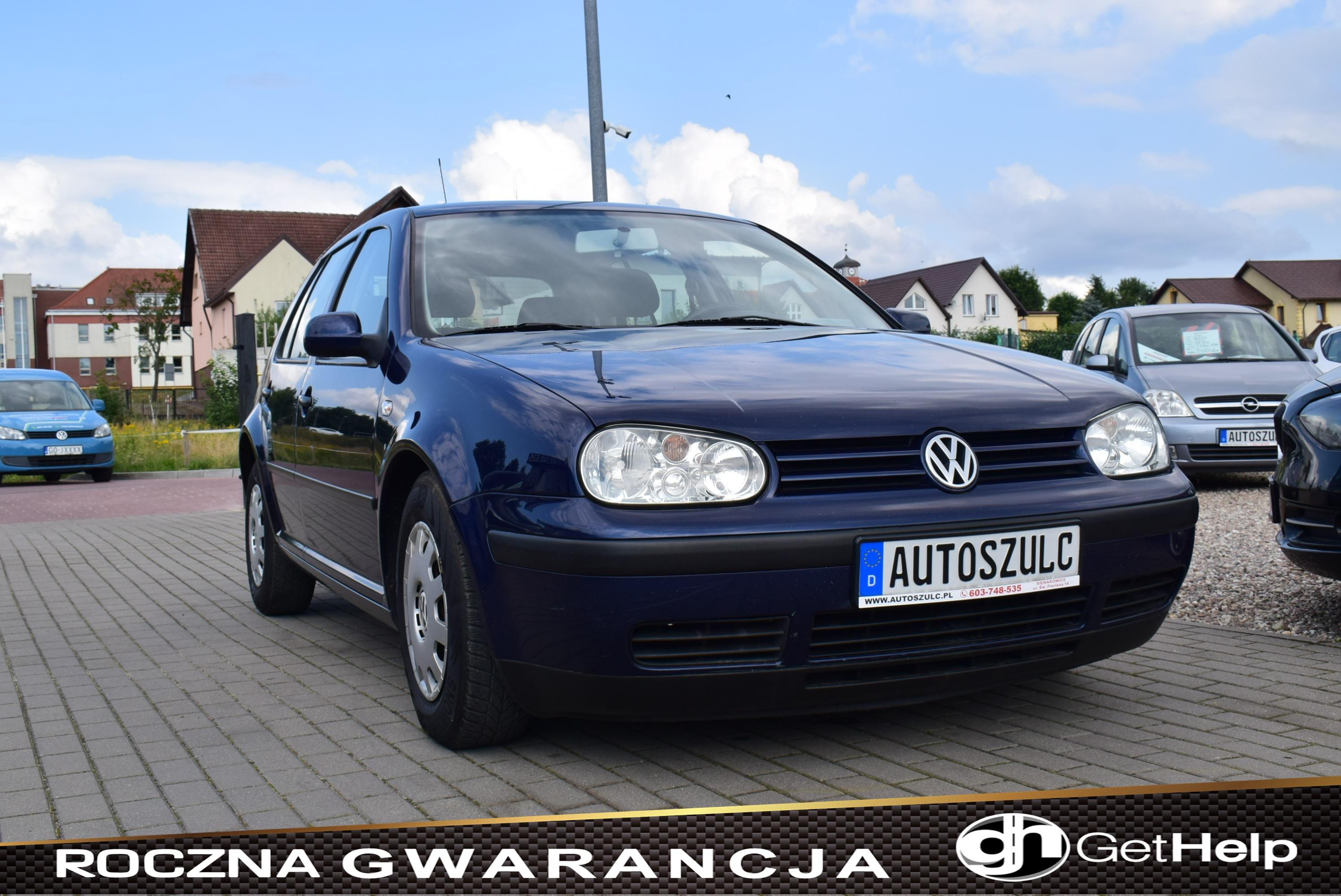 VW Golf IV 1.4 Benzyna, 5-Drzwi, Z Niemiec, Model : 2003, Ekonomiczny, Prosty, zwykły, Rok Gwarancji