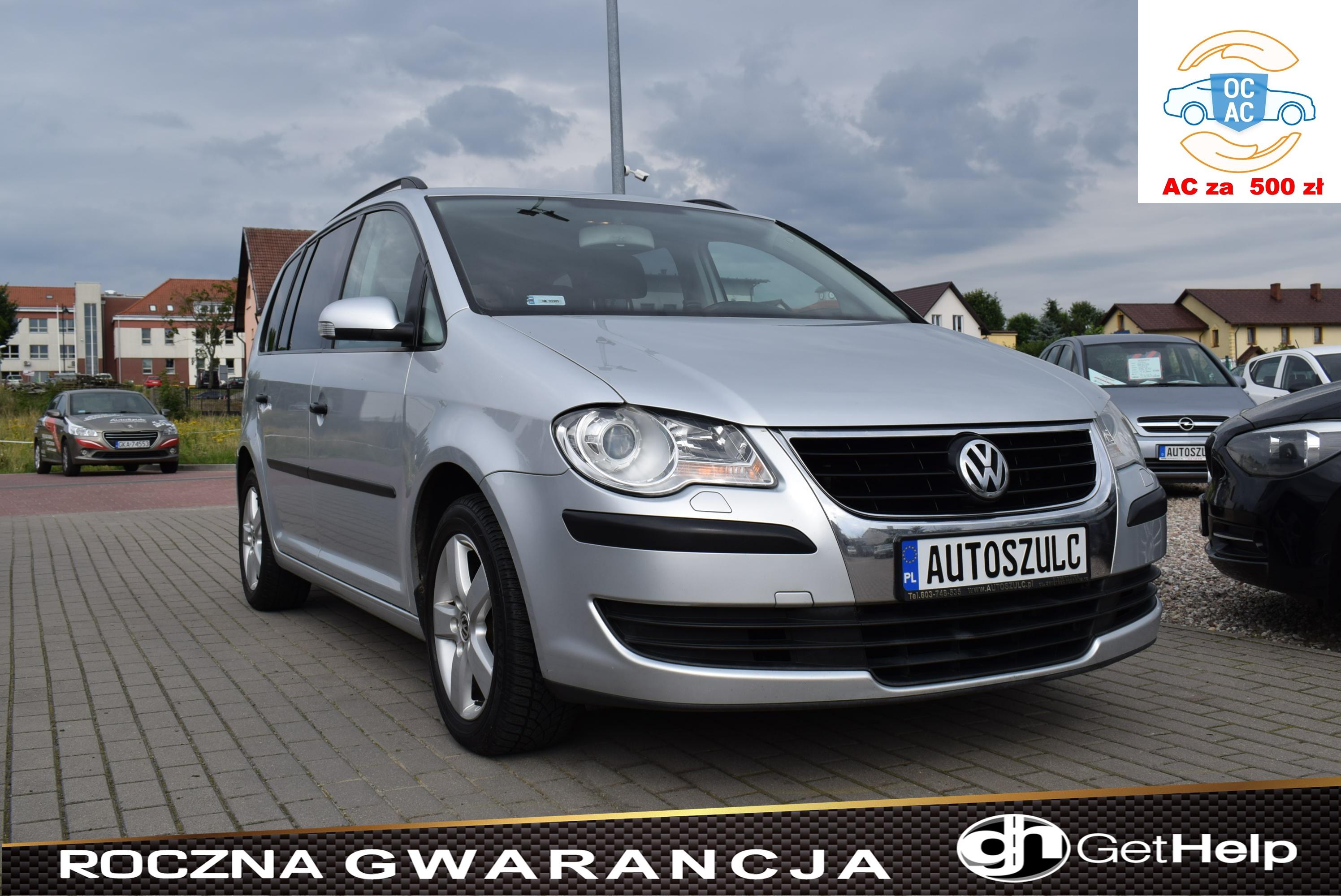 VW Touran 1.9 TDI, Lift, I-Właściciel, Zarejestrowany, Opłacony, Najlepsza jednostka silnikowa, Rok Gwarancji