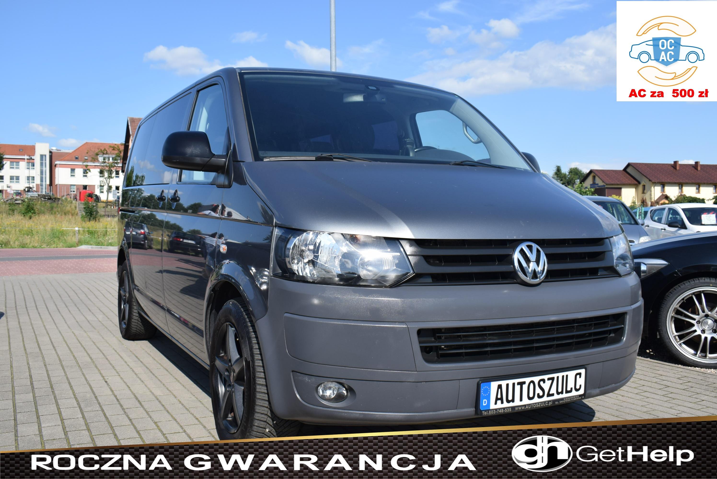 VW Transporter T5 LIFT 2.0 TDI 180 PS, 9-Osobowy, Z Niemiec, I-Właściciel, Klima, Tempomat, Wielofunkcyjna kierownica, Rok Gwarancji