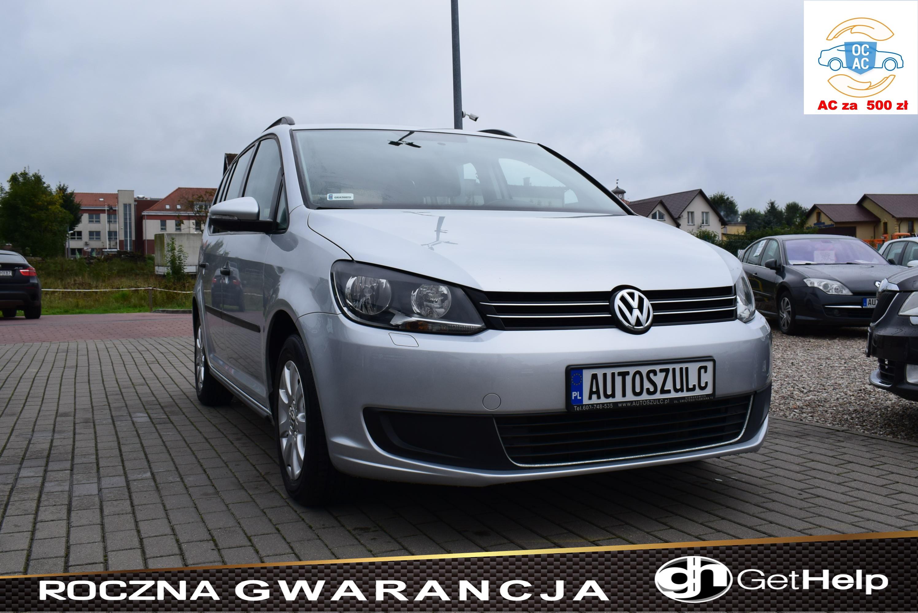 VW Touran 1.6 TDI, Zarejestrowany, 7-Osobowy, Opłacony, Bardzo dobry stan, Rok Gwarancji