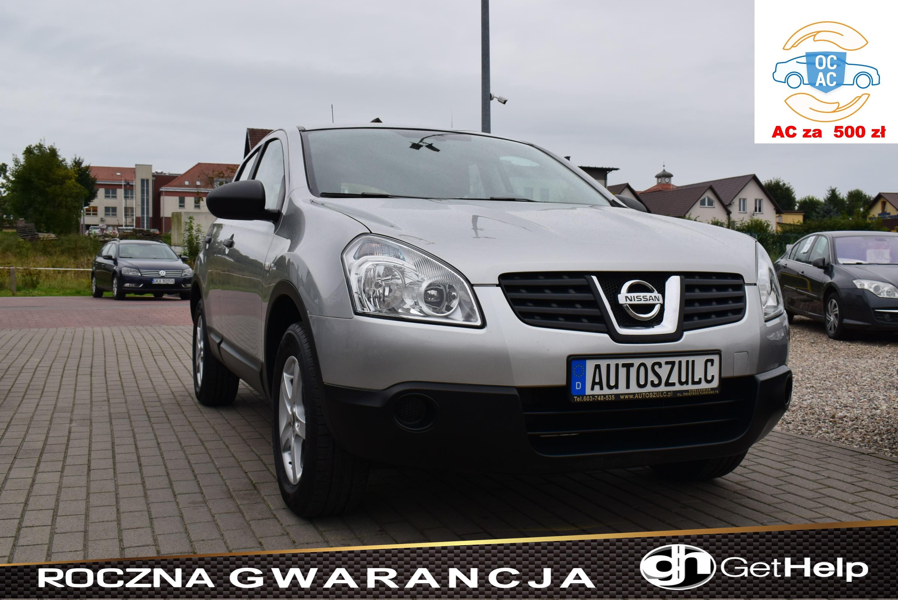 Nissan Qashqai 1.6 Benzyna, Sprowadzony, z Niemiec, Serwisowany, Mały przebieg, Rok Gwarancji