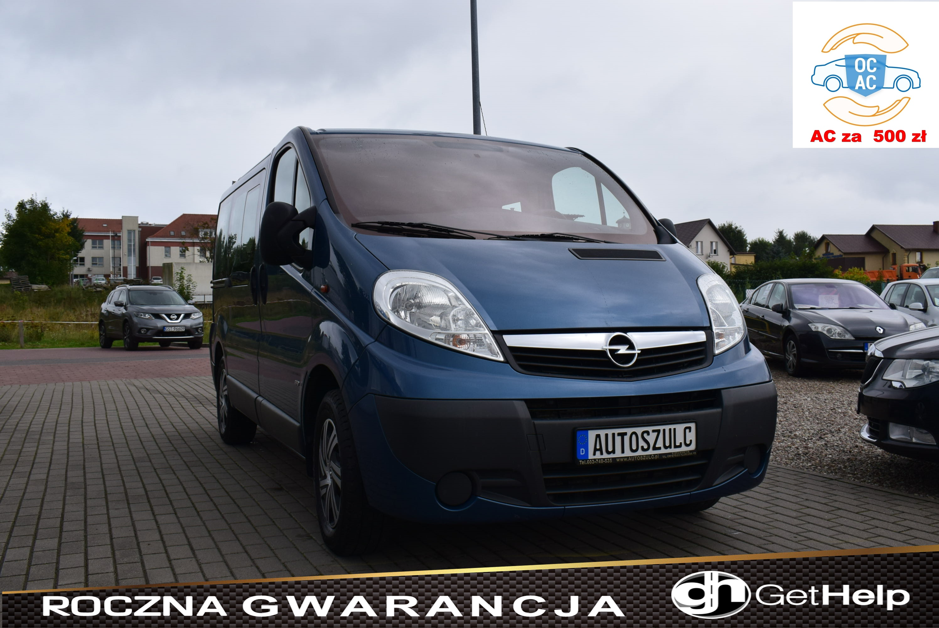 Opel Vivaro Westfalia 2.5 CDTI, Automat, 8-osobowy, Model : 2012, Klima, Hak, Rok Gwarancji