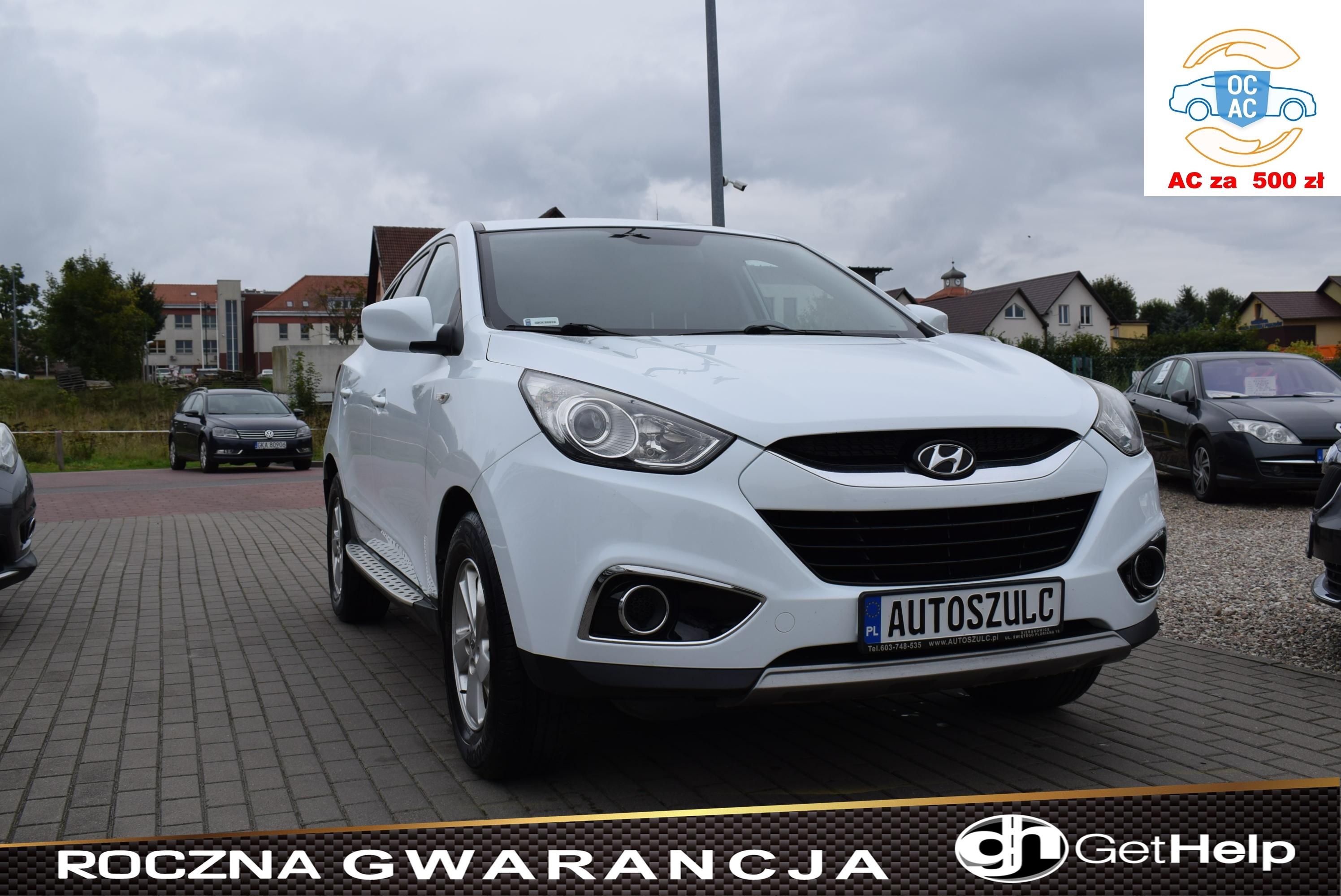 Hyundai IX-35 1.7 CRDI, Biała perła, Zarejestrowany, Opłacony, Kamera cofania, Nawigacja, Opłacony, Rok Gwarancji