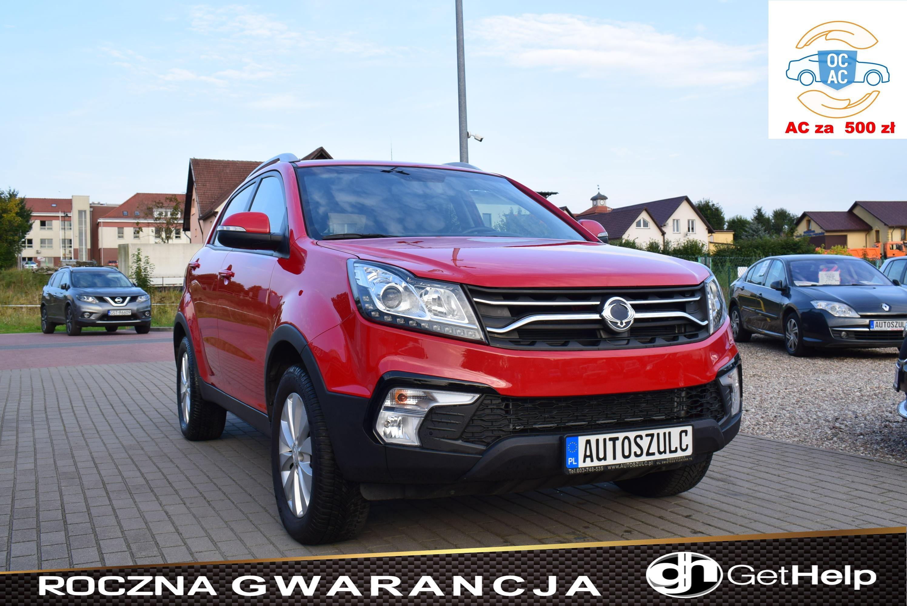Ssangyong Korando 2.0 Benzyna, SUV, Niski Przebieg, Wyjątkowy, Zadbany, Stan bdb, Rok Gwarancji