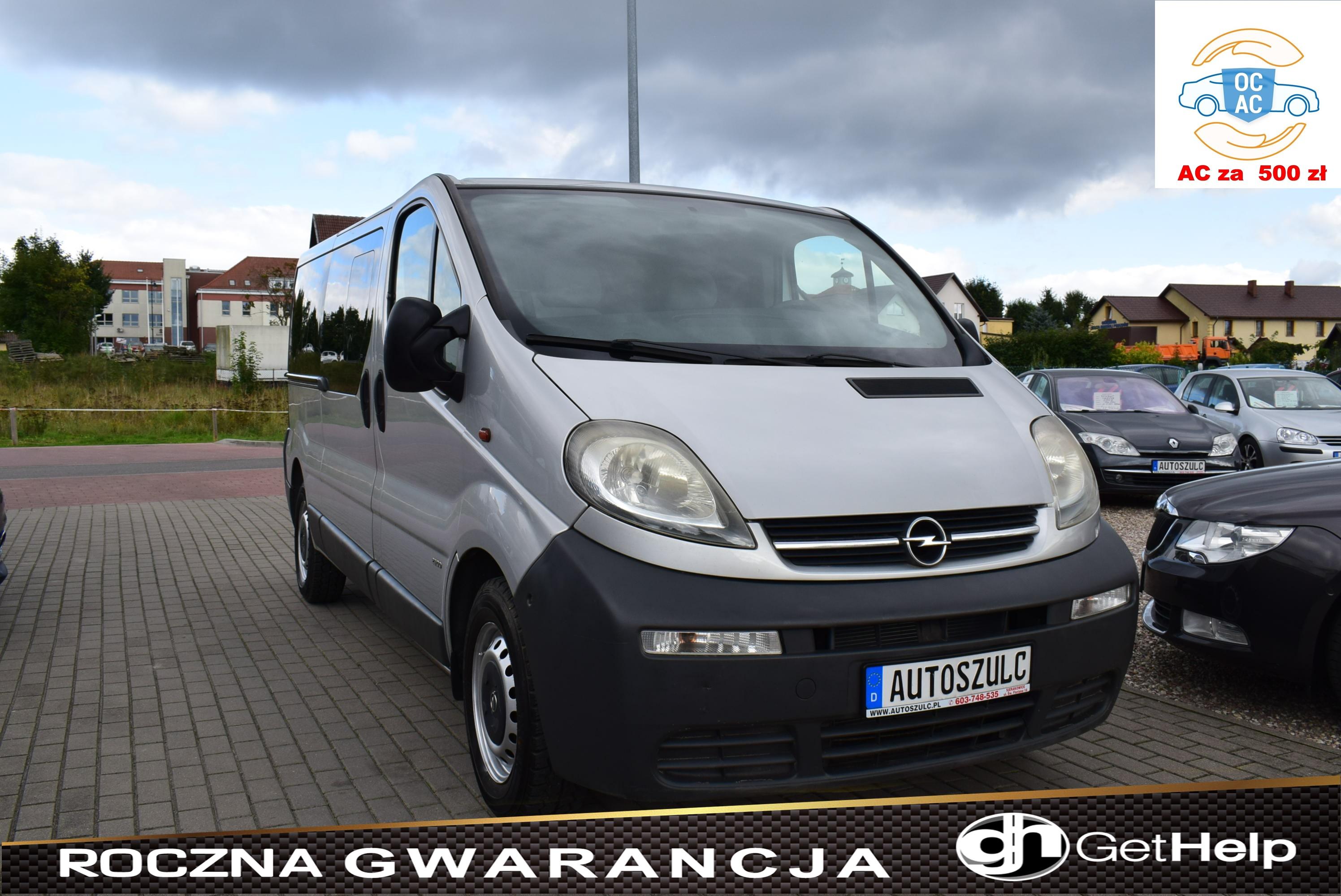 Opel Vivaro 1.9 CDTI 101 PS, LONG, KLIMA, HAK, 9-Osobowy, Zadbany, Rok Gwarancji