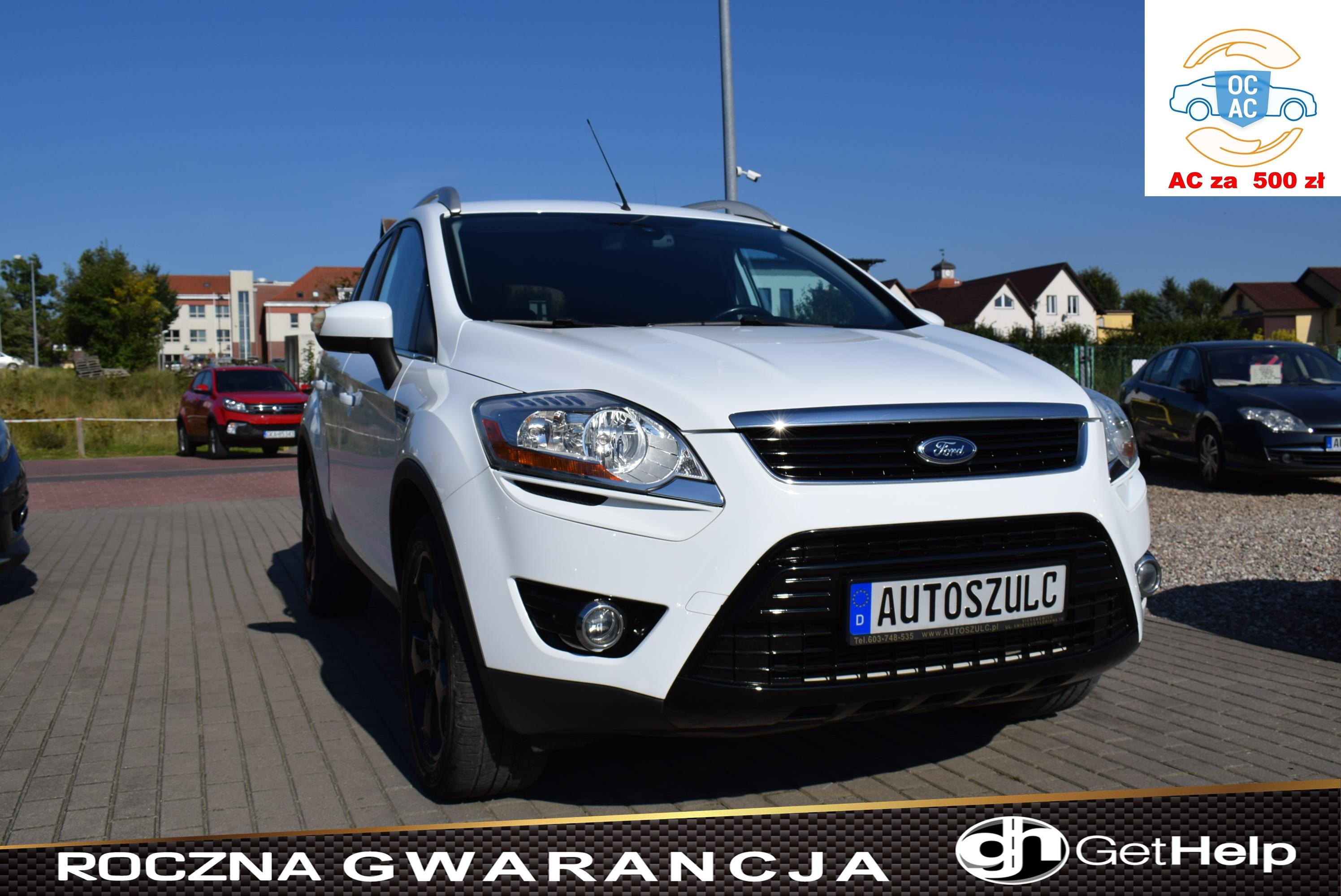 Ford Kuga 2.0 TDCI , Titanium, Sprowadzony, Elegancki, Biała Perła, Rok Gwarancji